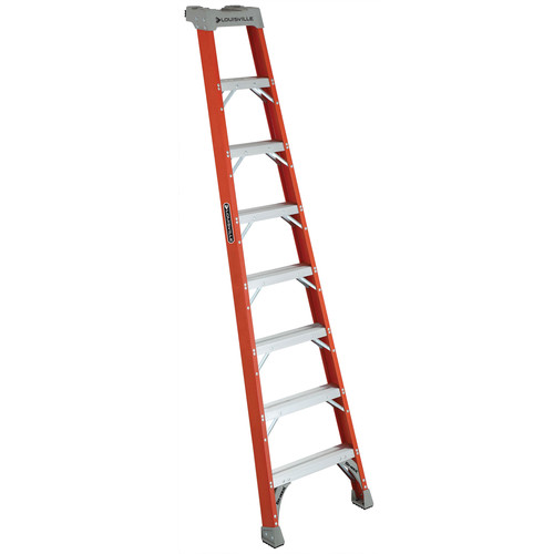 Louisville FH1508 8 ft. Type IA Duty Rating 300 lbs. Load Capacity Fiberglass Shelf Step Ladder