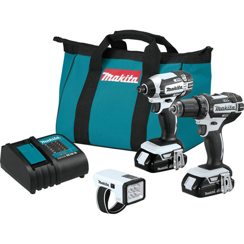 Makita CT322W 18V LXT 1.5 Ah Cordless Lithium-Ion Compact 3-Piece Combo Kit