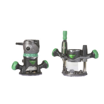 Factory Reconditioned Metabo HPT KM12VCMR 2-1/4 HP Variable Speed Plunge and Fixed Base Router Kit image number 0