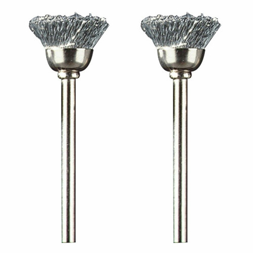 Dremel 442-02 1/2 in. Carbon Steel Brushes (2-Pack)