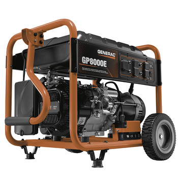 Factory Reconditioned Generac 6931R 420cc Gas 8,000 Watts Portable Generator with Cord image number 0