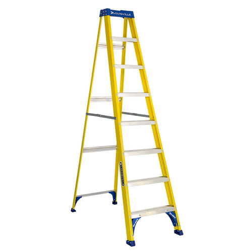 Louisville FS2008 8 ft. Type I Duty Rating 250 lbs. Load Capacity Fiberglass Step Ladder