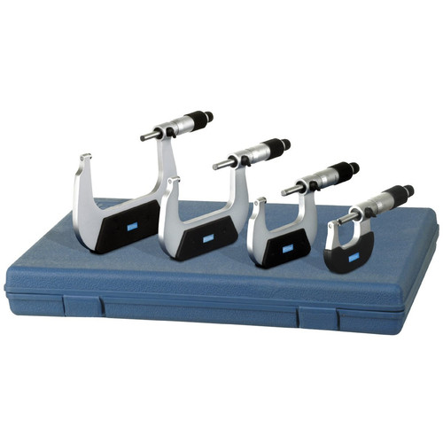 Fowler 72-229-214 4-Piece 0 to 4 in. Outside Inch Micrometer Set
