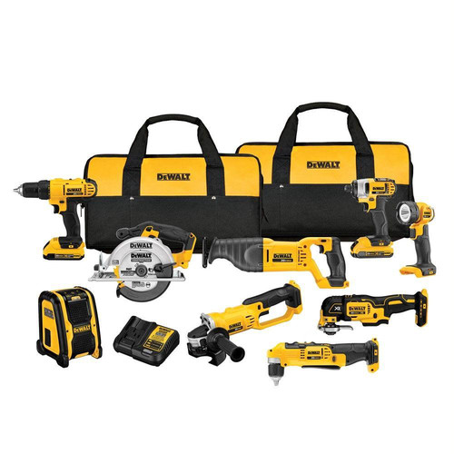 Factory Reconditioned Dewalt DCK940D2R 20V MAX Cordless Lithium-Ion 9-Tool Combo Kit image number 0