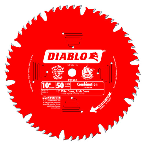 Diablo D1050X 10 in. 50 Tooth Combination Saw Blade