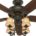 Hunter 53094 54 in. Cortland New Bronze Ceiling Fan with Light image number 7