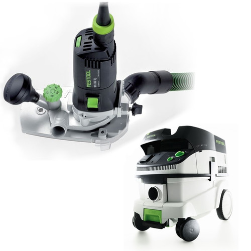 Festool MFK 700 Modular Trim Router with CT 26 6.9 E Gallon HEPA Mobile Dust Extractor