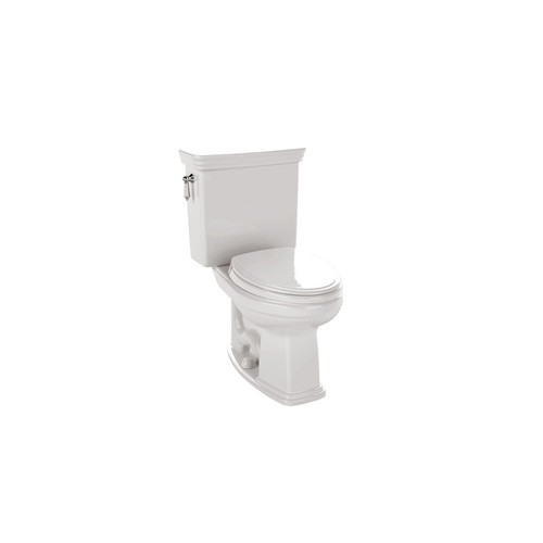 TOTO CST424SFG#01 Promenade Elongated 2-Piece Floor Mount Toilet (Cotton White)