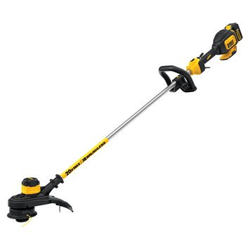 Factory Reconditioned Dewalt DCST920P1R 20V MAX 5.0 Ah Cordless Lithium-Ion Brushless String Trimmer image number 0
