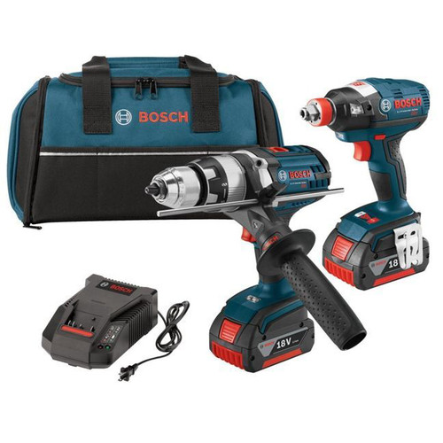 Bosch CLPK223-181 18V EC Brushless Lithium-Ion Brute Tough Drill Driver and Socket-Ready Hex Impact Driver