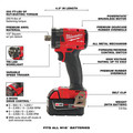 Milwaukee 2855P-22 M18 FUEL Lithium-Ion Brushless Compact 1/2 in. Cordless Impact Wrench Kit with Pin Detent (5 Ah) image number 7