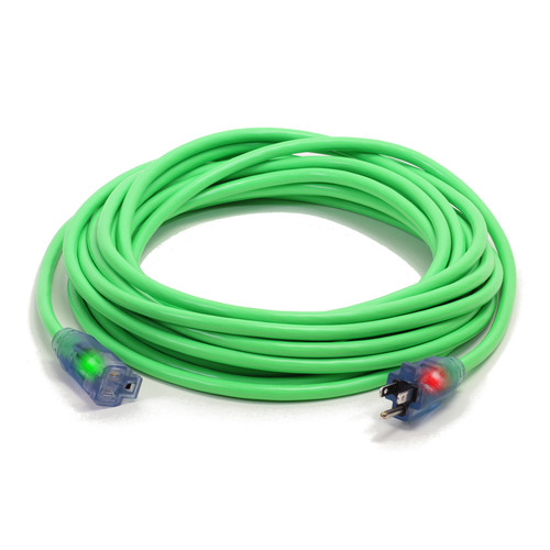 Century Wire D17004050 Pro Glo 15 Amp 10/3 AWG CGM SJTW Extension Cord - 50 ft. (Green)