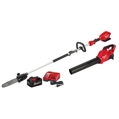 Milwaukee 2825-21PSB M18 FUEL Brushless Lithium-Ion QUIK-LOK Cordless Pole Saw / Blower Combo Kit (9 Ah) image number 0