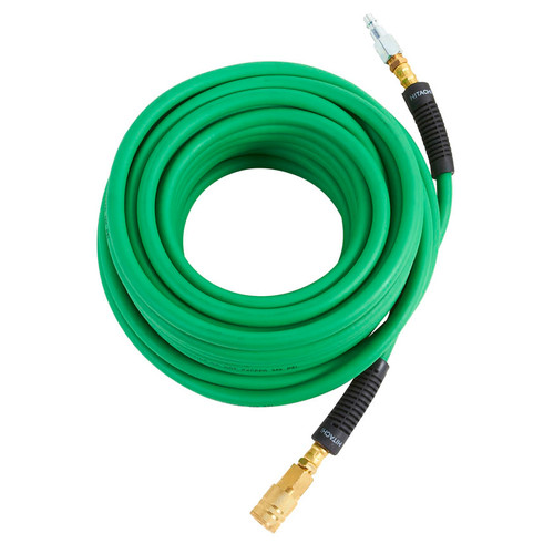 Hitachi 115158 1/4 in. x 50 ft. Hybrid Hose with Industrial Fittings (Green)