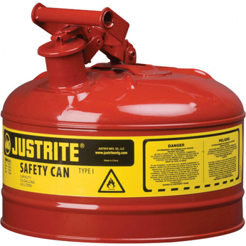 Justrite 7110100 Type I 1 Gallon Safety Can - Red image number 0
