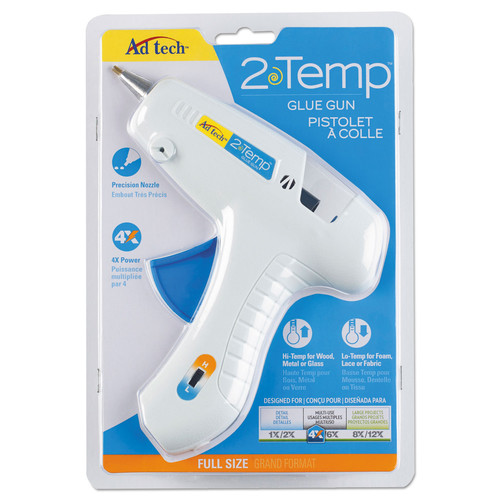 AdTech 0453 Full Size Glue Gun Two-Temp Cordless - Updated Inserts 40W