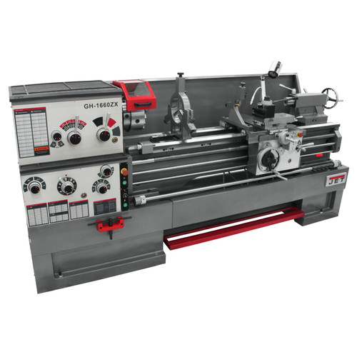 JET GH-1660ZX Lathe with 3-Axis ACU-RITE 200S DRO Installed