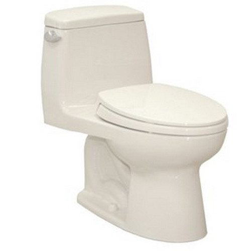 TOTO MS854114E#11 Eco UltraMax Elongated 1-Piece Floor Mount Toilet (Colonial White)