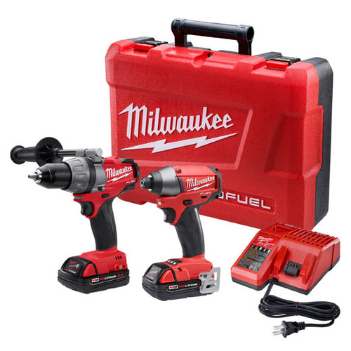 Factory Reconditioned Milwaukee 2791-82CT M18 FUEL 18V Cordless Lithium-Ion 1/2 in. Drill Driver and Impact Driver Combo Kit
