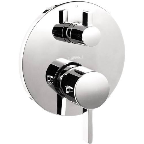 Hansgrohe 4231000 S Thermostatic Trim with Volume Control & Diverter (Chrome)