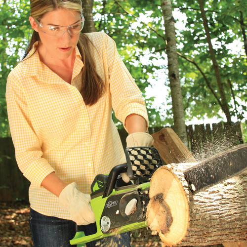 Greenworks 20322 40V G-MAX Lithium-Ion DigiPro Brushless 16 in. Chain Saw (Tool Only) image number 2