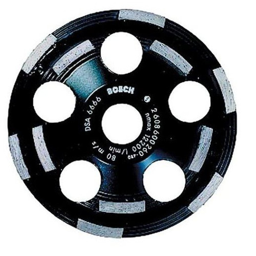 Bosch DC520 5 in. Double Row Diamond Cup Wheel