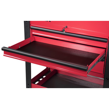 Sunex 8035XT 3 Drawer Slide Top Utility Cart with Power Strip (Red) image number 5