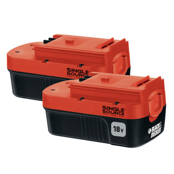 Black & Decker HPB18-OPE2 18V 1.5 Ah Ni-Cd Slide Battery (2-Pack)