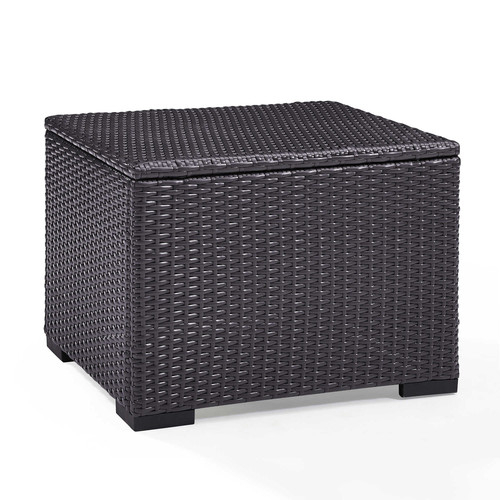 Crosley Furniture Co7224 Br Biscayne Resin Wicker Outdoor Coffee Table Brown