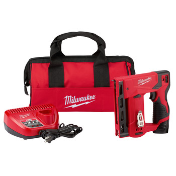 Milwaukee 2447-21 M12 3/8 in. Crown Stapler Kit image number 0