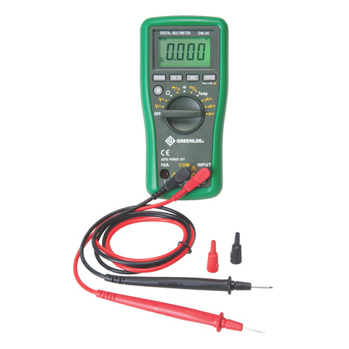Greenlee DM-45 CATIII 600V Auto Ranging Digital Multimeter