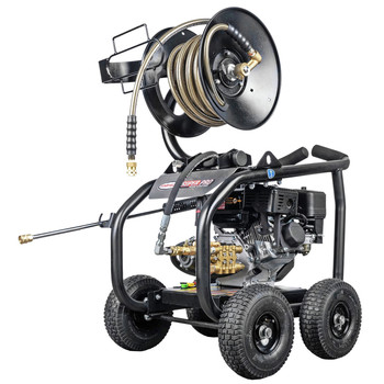 Simpson 65202 Super Pro 3600 PSI 2.5 GPM Direct Drive Small Roll Cage Professional Gas Pressure Washer with AAA Pump