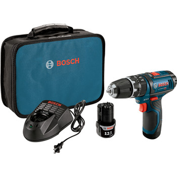Bosch PS130-2A 12V Max Lithium-Ion Ultra Compact 3/8 in. Cordless Hammer Drill Kit (2 Ah)