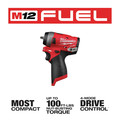 Milwaukee 2552-20 M12 FUEL Stubby 1/4 in. Impact Wrench (Tool Only) image number 2