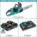 Makita XCU03PT1 18V X2 (36V) LXT Lithium-Ion Brushless Cordless 14-in Chain Saw Kit with 4 Batteries (5.0Ah) image number 1