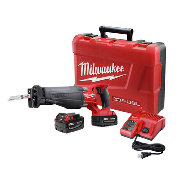 Milwaukee 2720-22 M18 FUEL Cordless Sawzall Reciprocating Saw with 2 REDLITHIUM Batteries
