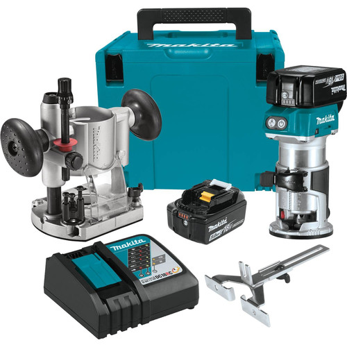Makita XTR01T7 18V LXT 5.0 Ah Cordless Lithium-Ion Brushless Compact Router Kit