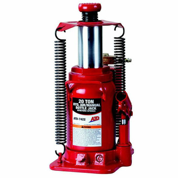 ATD 7422W 20 Ton Heavy-Duty Hydraulic Air Actuated Bottle Jack