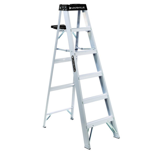 Louisville AS3006 6 ft. Type IA Duty Rating 300 lbs. Load Capacity Aluminum Step Ladder