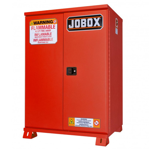 JOBOX 1-853610 30 Gallon Heavy-Duty Safety Cabinet (Red) image number 0