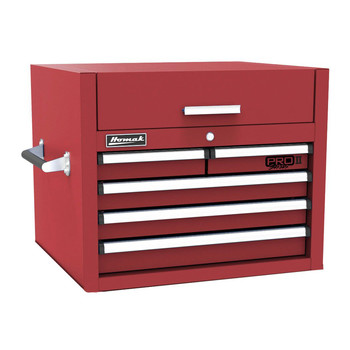 Homak RD02027052 27 in. Pro 2 5-Drawer Top Chest (Red)