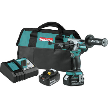 Makita XPH14T 18V LXT Brushless Lithium-Ion 1/2 in. Cordless Hammer Drill Driver Kit (5 Ah)