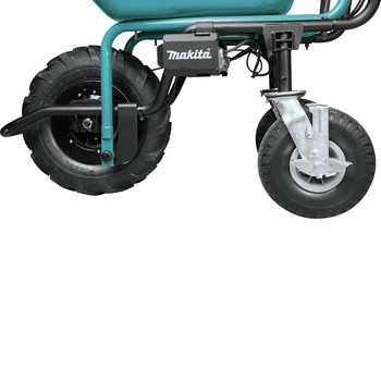 Makita XUC01PTX2 18V X2 LXT Brushless Cordless Power-Assisted Hand Truck/Wheelbarrow Kit with Flat Bed (5.0Ah) image number 6