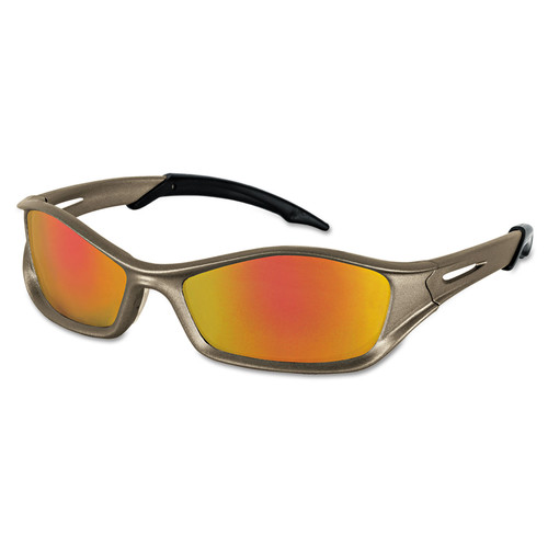 Crews 135-TB12R Tribal V Series Protective Eyewear with Fire-Mirror Lens