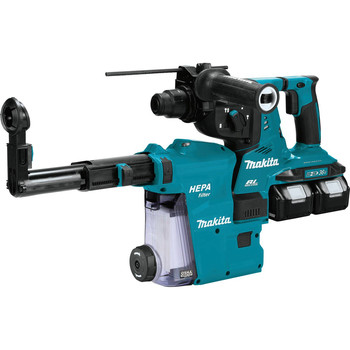 Makita XRH08PTW 18V X2 LXT (36V) 5.0 Ah Brushless Cordless 1-1/8 in. AVT Rotary Hammer Kit, accepts SDS-PLUS bits with HEPA Dust Extractor image number 0