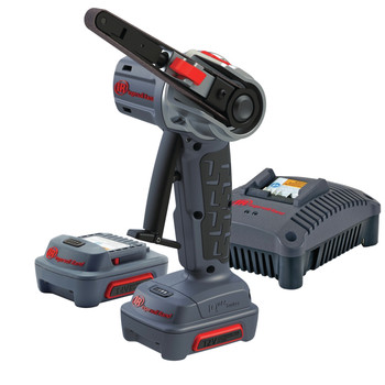 Ingersoll Rand G1811-K2 Brushed Lithium-Ion 3/8 in. x 13 in. Cordless Belt Sander Kit (2 Ah)