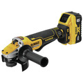 Dewalt DCG415W1 20V MAX XR Brushless Lithium-Ion 4-1/2 in. - 5 in. Small Angle Grinder with POWER DETECT Tool Technology Kit (8 Ah) image number 2