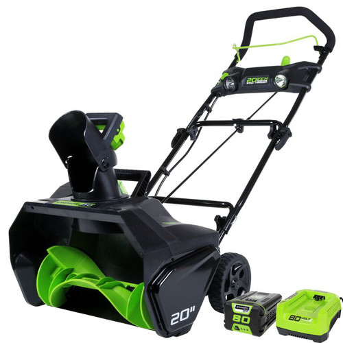 Greenworks 2600402 Pro 80V Cordless Lithium-Ion 20 in. Snow Thrower Kit image number 0