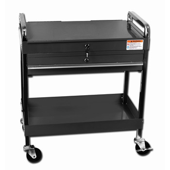 Sunex 8013ABK Service Cart with Locking Top and Drawer (Black) image number 0