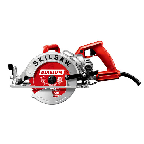 SKILSAW SPT77WM-22 7-1/4 in. Magnesium Worm Drive Circular Saw with Diablo Carbide Blade
